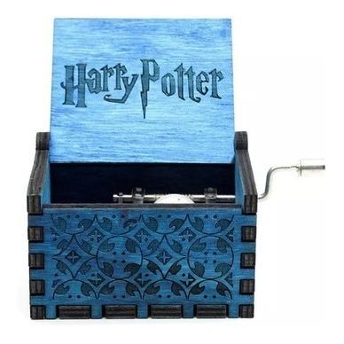 caixa de música harry potter com tema do filme à manivela
