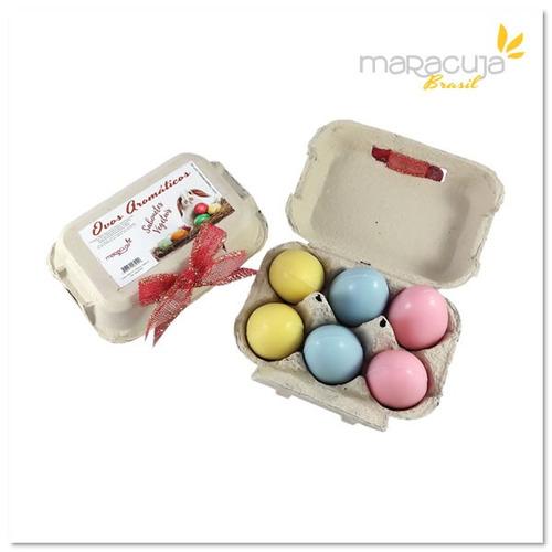 caixa de ovos com 6 sabonetes