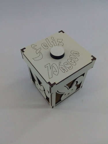 caixa de ovos de páscoa quadrada vazada de 12cm x 12 cm