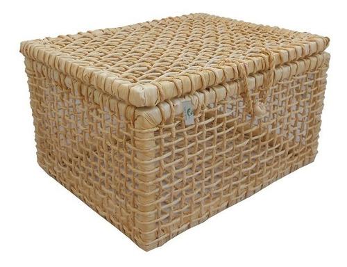 caixa de palha milho natural 41x33x25