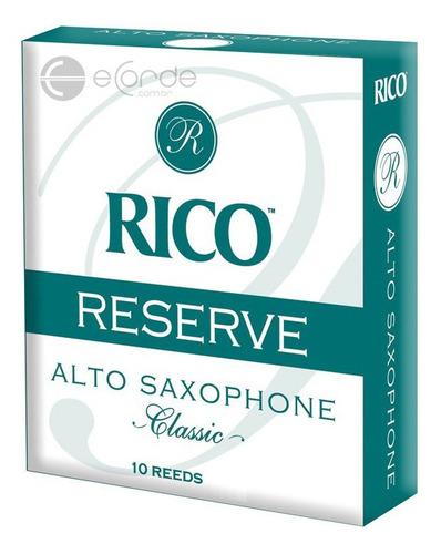 caixa de palhetas rico reserve classic 4.0 - sax alto