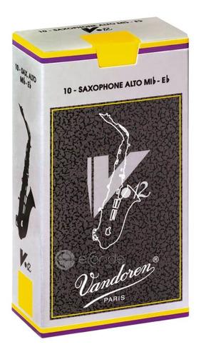 caixa de palhetas vandoren v12 - 3.5 - sax alto