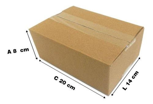 caixa de papelão 20x14x8 - tipo correio/sedex - 100 pçs