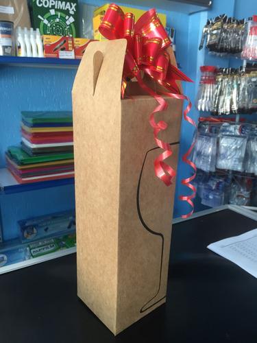 caixa de papelão para garrafa pacote de 10 unidades + brinde