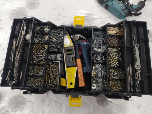 caixa de pesca hi 6 bandejas articuladas brinde enrolador