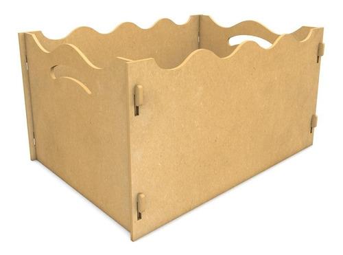 caixa de presente decoração festa lisa mdf 6mm desmontável