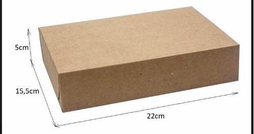 caixa de presente kraft c/80 un. 22x15,5x5 r1 sj