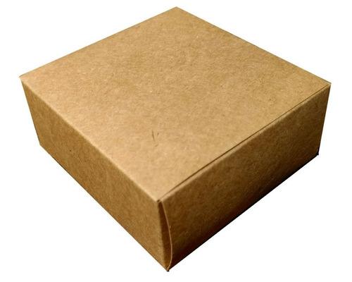 caixa de presente kraft pacotes c/100 unidades bj2 7x7x3