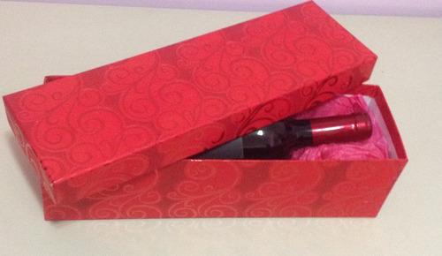 caixa de presente para vinho (deitada)