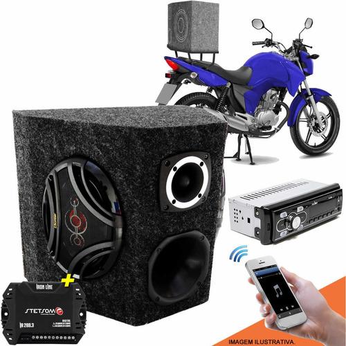 caixa de propaganda para moto bike completa detoner 400w rms