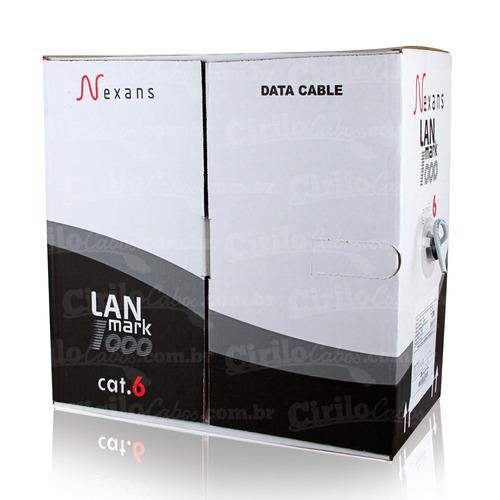 caixa de rede nexans cat6 - 30 metros - cirilo cabos