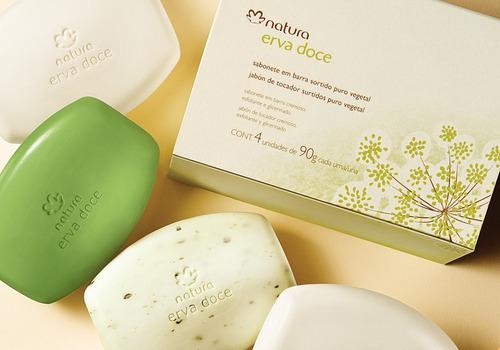 caixa de sabonete erva doce natura