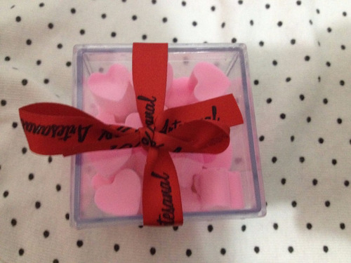 caixa de sabonetes artesanais mini coração