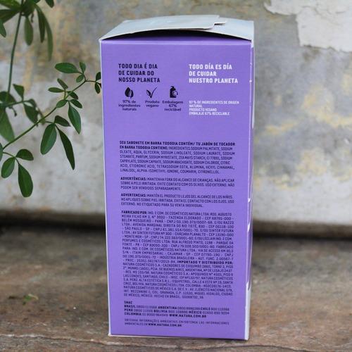 caixa de sabonetes natura todo dia algodão 05un.