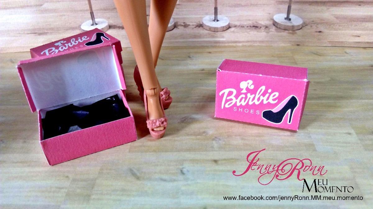 Caixa De Sapatos De Boneca Barbie Montadas 20 Unidades R 40