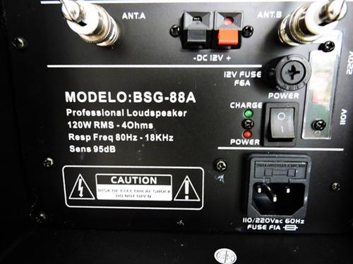caixa de som 1800w amplificada bluetooth microfone bateria