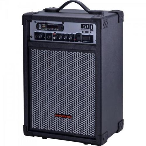 caixa de som 60w rms bluetooth usb sd iron 400 hayonik