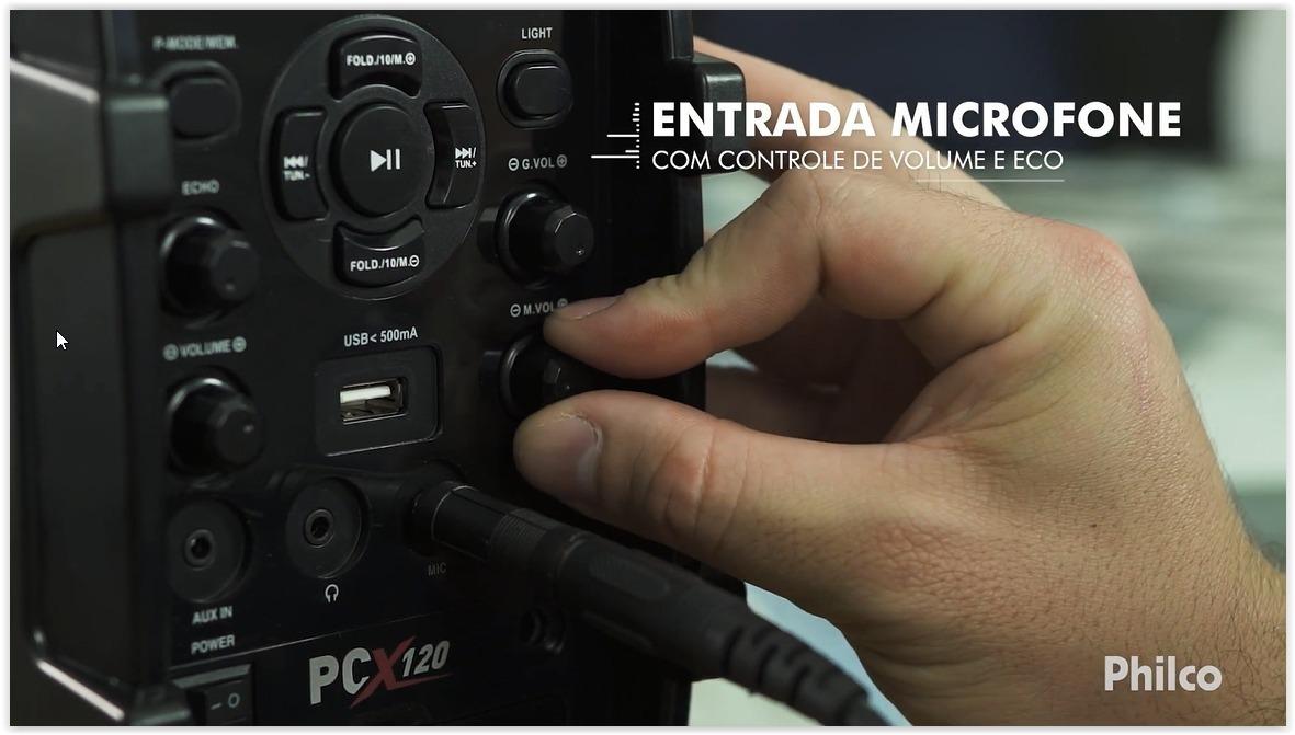 93a495a58 Caixa De Som Acústica Philco Pcx120 100w Bluetooth Bivolt - R  279 ...