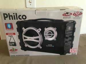 edc135578 Caixa De Som Acústica Philco Pht80 Bluetooth Bilvolt Usb - R  254