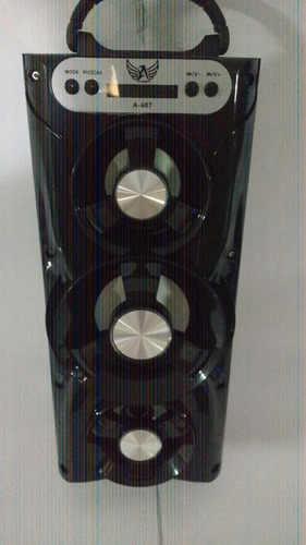 caixa de som amplificada bateria  usb mp3 radio fm d-bh2034