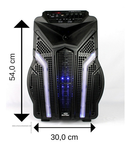 caixa de som amplificada bluetooth 2000w fortress 2 microfon