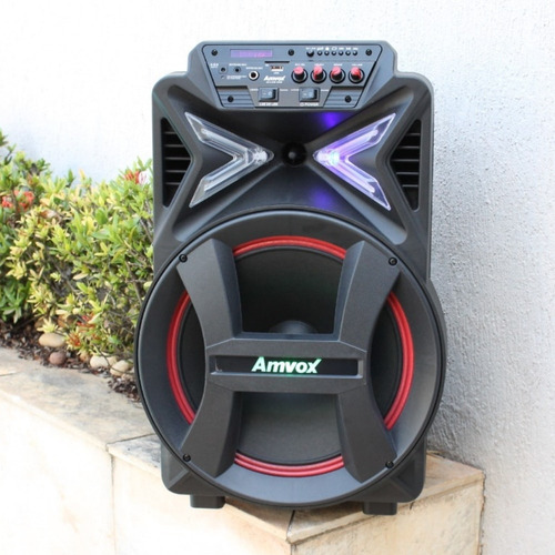 caixa de som amplificada bluetooth amvox 2900w c/micr s/fio