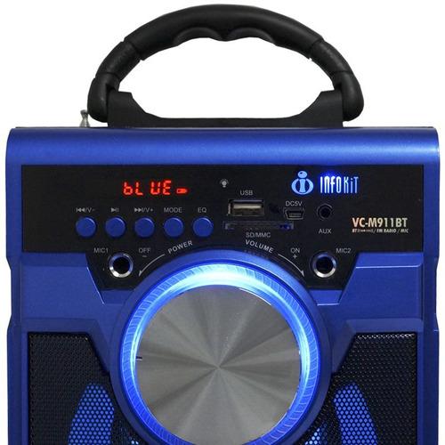 caixa de som amplificada com microfone fm usb bluetooth  e12