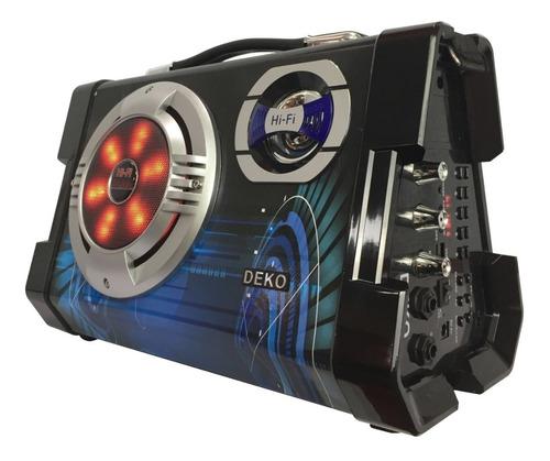 caixa de som amplificada led bluetooth mp3 sd mic torre 2317