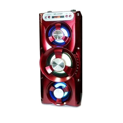 caixa de som amplificada microfone bluetooth frete grátis
