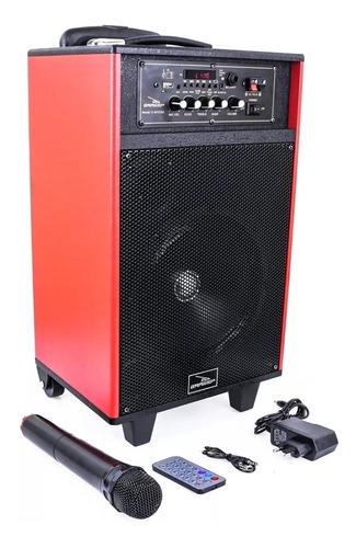 caixa de som amplificada microfone sem fio bluetooth karaoke