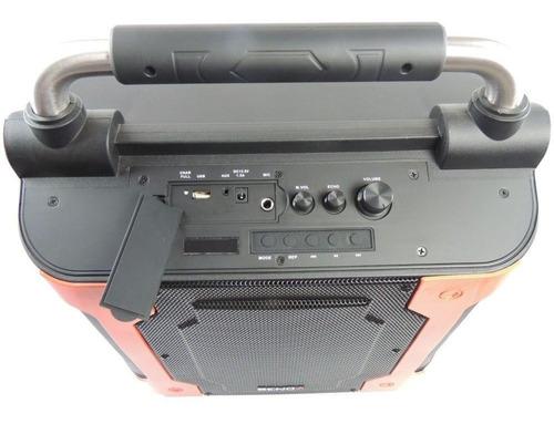 caixa de som amplificada microfone sem fio karaokê 80w rms