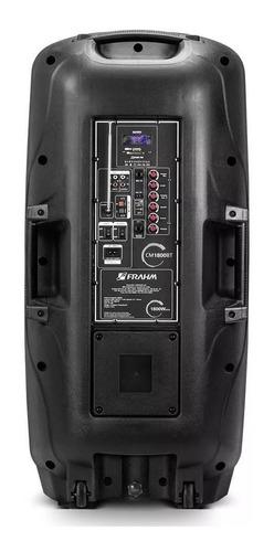 caixa de som amplificada multiuso cm 1800 bt luz de leds fm