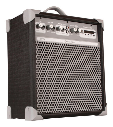 caixa de som amplificada multiuso up! 8 fm usb bl ll audio