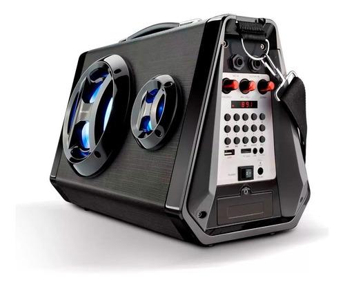 caixa de som amplificada original bluetooth usb microfone