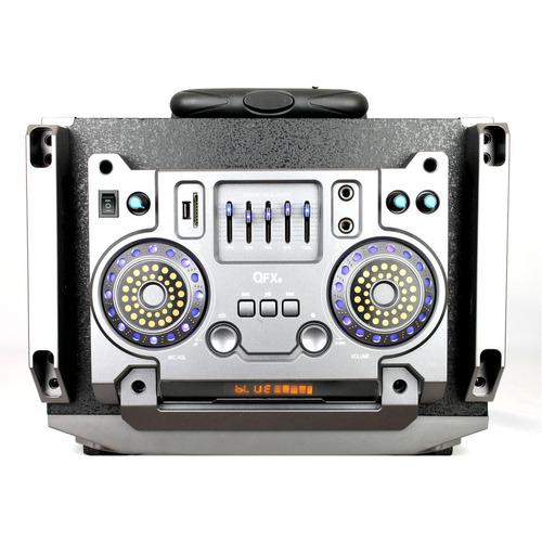 caixa de som amplificada qfx bateria recarregal 3200w
