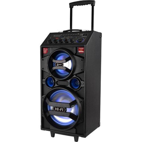 caixa de som amplificadora bluetooth lenoxx ca318 preta 300w