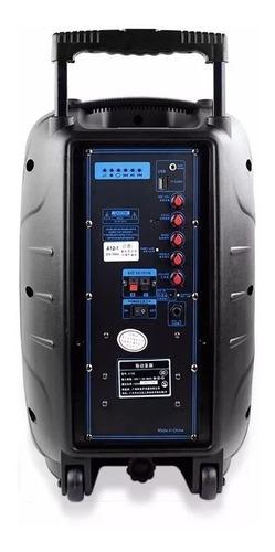 caixa de som amplificadora trolley 12 bluetooth 150w sp219