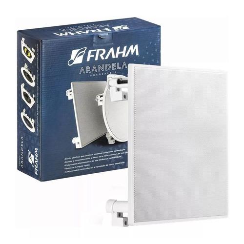 caixa de som arandela frahm quadrada 6'' 70w borderless