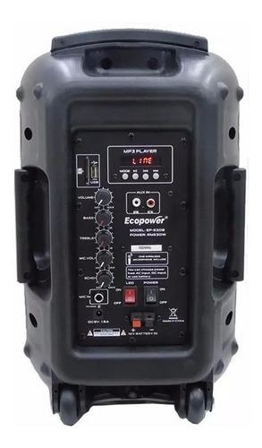 caixa de som ativa ecopower ep-s308 amplificada