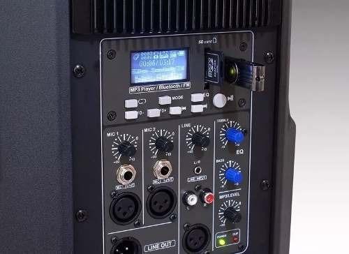 caixa de som ativa staner sr315a 15pol. usb/sd/bt/ + tripe