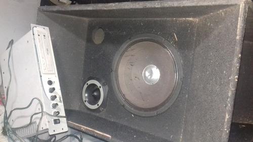 caixa de som auto falante 18