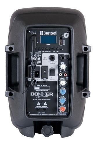 caixa de som bluetooth amplificada ativa 08 usb pc 80w nca
