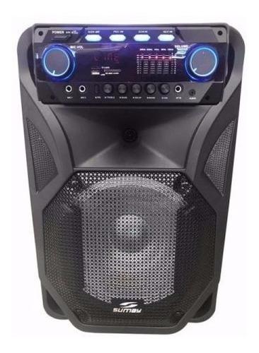 caixa de som bluetooth bateria rec.microfone s/ fio thunder