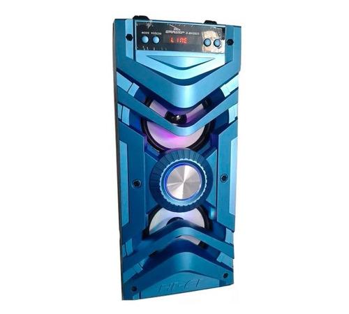 caixa de som bluetooth -grasep cor azul claro direto da loja