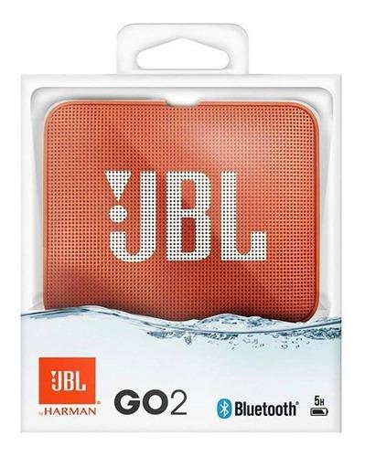 caixa de som bluetooth jbl go 2 3w a prova d'agua 3w laranja