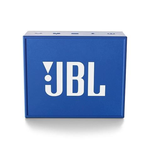 caixa de som bluetooth jbl go portátil original - azul