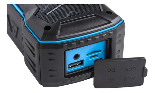 caixa de som bluetooth k335 azul com anatel