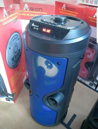 caixa de som bluetooth karaokê e radio fm sem fio nova