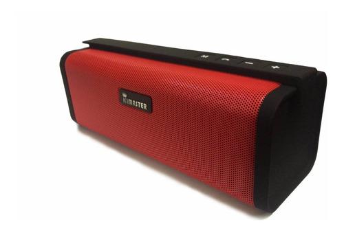 caixa de som bluetooth kimaster k331 vermelho