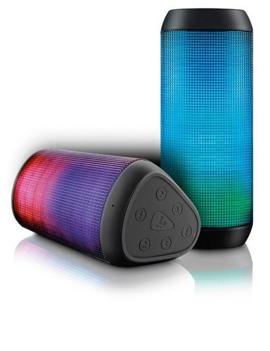 caixa de som bluetooth led micro sd 15w rms